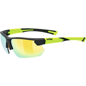 UVEX Sportstyle 221 Glasses, black mat yellow/yellow